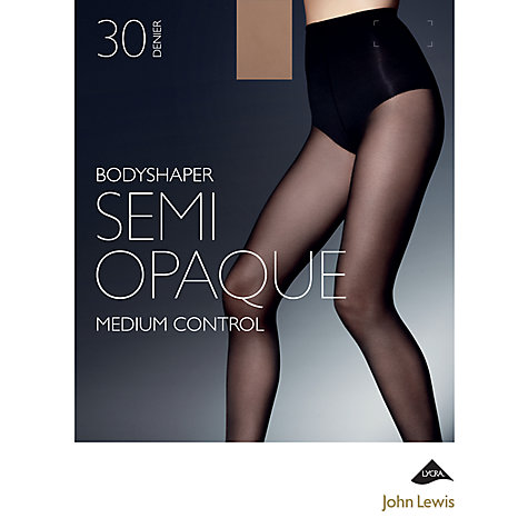 Buy John Lewis 30 Denier Semi Opaque Body Shaper Tights Online at johnlewis.com