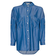 Buy Mango Oversized Denim Shirt, Medium Denim Online at johnlewis.com