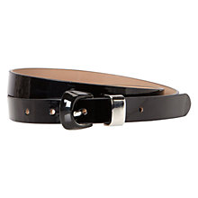 Buy Hobbs Darwen Belt, Black Online at johnlewis.com
