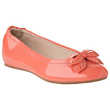 Buy L.K. Bennett Sasha Patent Leather Bow Detail Ballerina Pumps Online at johnlewis.com