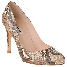 Buy L.K. Bennett Shilo Leather Snake Print Round Toe Court Shoes Online at johnlewis.com