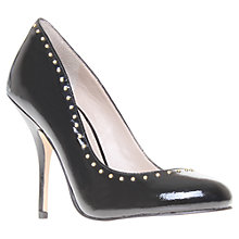 Buy KG by Kurt Geiger Bella Patent Leather Studded Court Shoe, Black Online at johnlewis.com