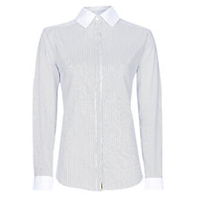 Buy Mango Striped Fitted Shirt, Black Online at johnlewis.com