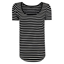 Buy Mango Stripe Cotton T-Shirt, White Online at johnlewis.com