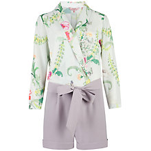 Buy Ted Baker Antiguo Wallpaper Floral Playsuit, Mint Online at johnlewis.com