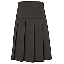 Buy John Lewis Girls' Adjustable Waist Panel Pleat School Skirt, Grey Online at johnlewis.com