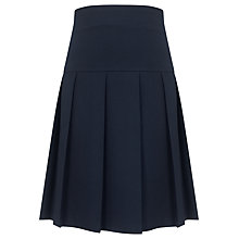 Buy John Lewis Girls' Adjustable Waist Panel Pleat School Skirt, Blue Online at johnlewis.com