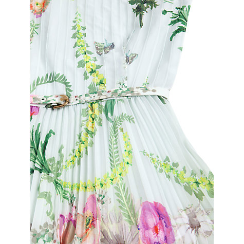 Buy Ted Baker Perlaa Wallpaper Pleated Dress, Mint Online at johnlewis.com
