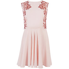 Buy Ted Baker Russi Mesh Dress, Nude Pink Online at johnlewis.com
