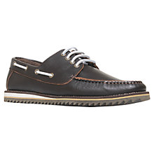 Buy KG by Kurt Geiger Prime Leather Boat Shoes Online at johnlewis.com