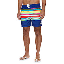 Buy Original Penguin Volley Multi Stripe Swim Shorts Online at johnlewis.com