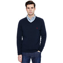 Buy Original Penguin Long Sleeve V-Neck Jumper Online at johnlewis.com