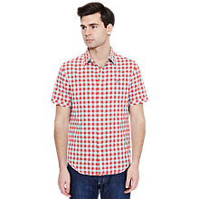 Buy Original Penguin Poplin Gingham Short Sleeve Shirt Online at johnlewis.com