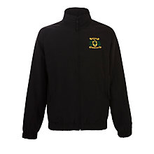 Buy Woodbridge High School Unisex Tracksuit Top, Black Online at johnlewis.com
