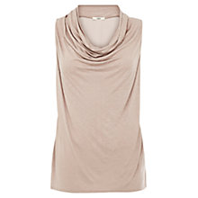 Buy Oasis Cowl Neck Sparkle Shell Top Online at johnlewis.com