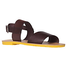Buy KG by Kurt Geiger Fusion Leather Sandals Online at johnlewis.com