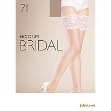 Buy John Lewis 7 Denier Bridal Hold Ups Online at johnlewis.com