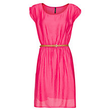 Buy Mango Pleated Belted Dress Online at johnlewis.com