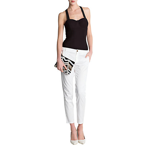 Buy Mango Suit Trousers, White Online at johnlewis.com