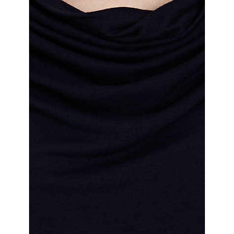 Buy Farhi by Nicole Farhi Cowl Jersey Plain Tee, Navy Online at johnlewis.com
