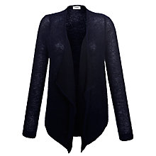 Buy Farhi by Nicole Farhi Mohair Waterfall Cardigan, Navy Online at johnlewis.com