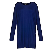 Buy Farhi by Nicole Farhi Scoop Neck Knit Dress, Ultra Blue Online at johnlewis.com