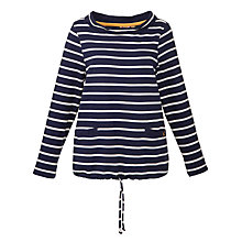 Buy Joules Coniston Jersey Sweatshirt, Navy Stripe Online at johnlewis.com
