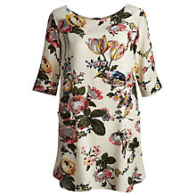Buy Joules Etty Floral Tunic Top, Silver Floral Online at johnlewis.com