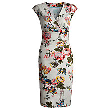 Buy Joules Halton Cotton Floral Dress, Grey Print Online at johnlewis.com