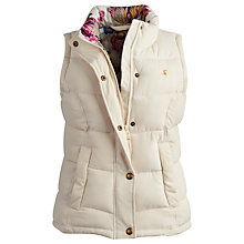 Buy Joules Higham Padded Gilet, Creme Online at johnlewis.com