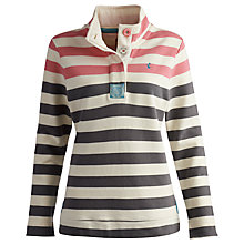 Buy Joules Stripe Cowdray Sweatshirt, Grey/Pink Online at johnlewis.com