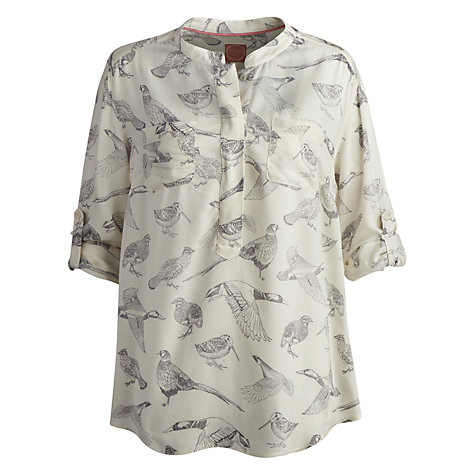 Buy Joules Rosamond Bird Print Blouse, Creme Online at johnlewis.com