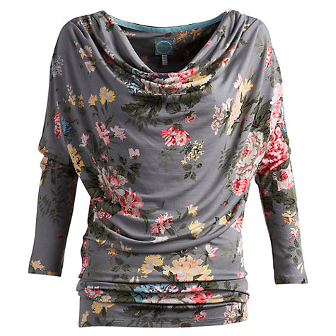 Buy Joules Rosslyn Floral Top, Grey Floral Online at johnlewis.com