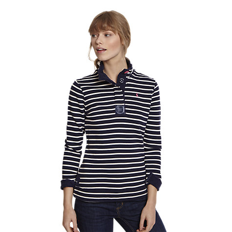 Buy Joules Stripe Cowdray Sweatshirt, Navy Stripe Online at johnlewis.com