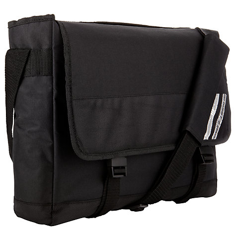 Buy John Lewis School Messenger Bag, Black Online at johnlewis.com
