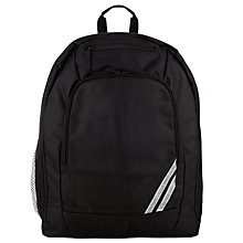 Buy John Lewis Plain School Backpack, Black Online at johnlewis.com