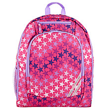 Buy John Lewis Junior Stars School Rucksack, Pink/Multi Online at johnlewis.com