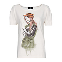 Buy Mango Printed Illustration T-shirt Online at johnlewis.com