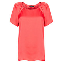 Buy Mango Pleated Satin Blouse Online at johnlewis.com
