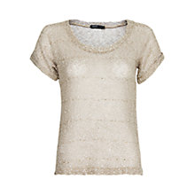 Buy Mango Glitter Knitted T-shirt Online at johnlewis.com