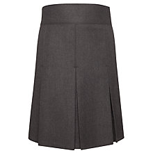 Buy John Lewis Girls' Adjustable Waist Stitch Down Pleated School Skirt, Grey Online at johnlewis.com