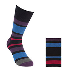 Buy John Lewis Multi Stripe Heel and Toe Socks, Pack of 3 Online at johnlewis.com