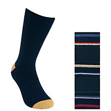 Buy John Lewis Clean Stripe Heel and Toe Socks, Pack of 5 Online at johnlewis.com