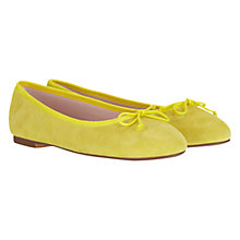 Buy Mint Velvet Suede Ballet Pumps, Citrus Online at johnlewis.com