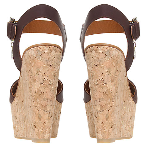 Buy Kurt Geiger Contra Leather Cork Wedge Sandals Online at johnlewis.com