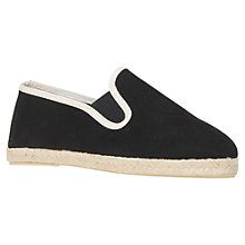Buy Kurt Geiger Pemberley Canvas Espadrilles, Black Online at johnlewis.com