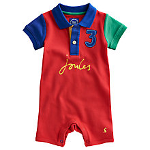 Buy Baby Joule Lawrence Romper, Red Online at johnlewis.com