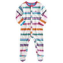 Buy Baby Joule Striped Baby Grow, Ribbon Online at johnlewis.com
