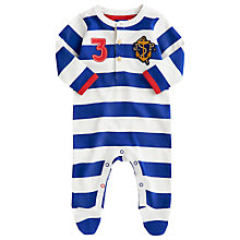 Buy Baby Joule Hobart Rugby Baby Grow, Blue Stripe Online at johnlewis.com