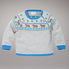 Buy John Lewis Baby Bear Jumper, Grey Online at johnlewis.com